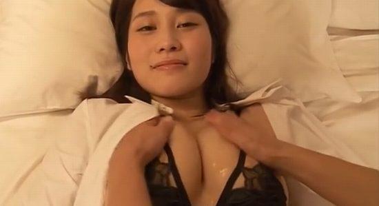 橘花凛のおっぱいをたっぷり揉んで疑似セックス