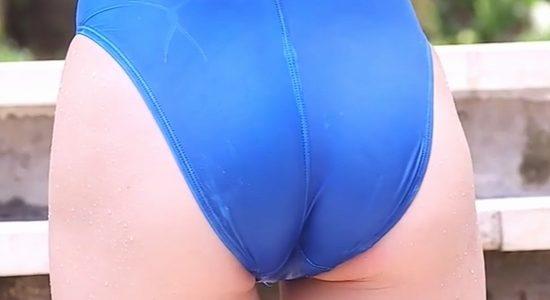 橘花凛 エッチな競泳水着で際立つプリ尻とエロおっぱい