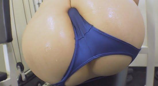 夏希 汗ばんだお尻と股間がモッコリなトレーニング