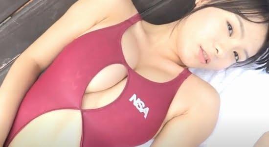 星名美津紀 穴あき競泳水着で水を弾くマシュマロおっぱい