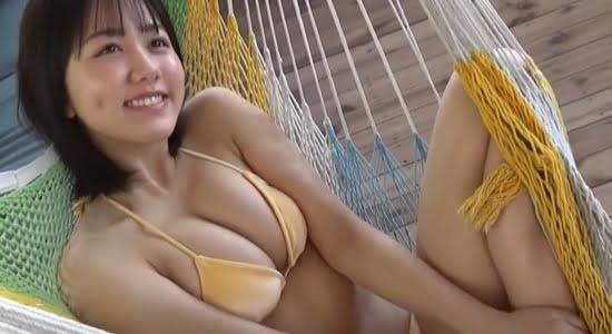 後藤真桜 高校生活ラストサマーのGカップ巨乳グラビア
