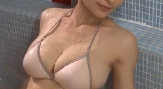 熊田曜子 お風呂で水を弾く人妻のセクシーボディ